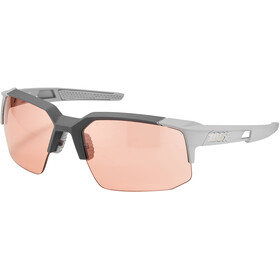 100% Speedcoupe Gafas, soft tact stone grey/HD multilayer